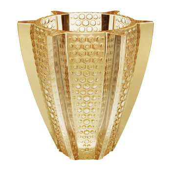 Rayons Vase - Gold Luster