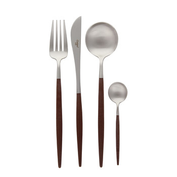 Goa Cutlery Set - 24 Piece - Brown
