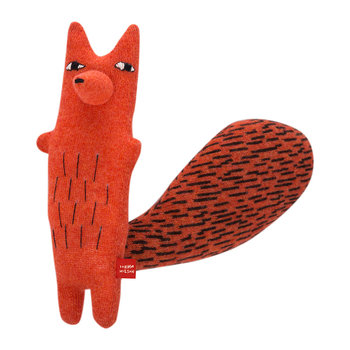 Knitted Lambswool Creature - Cyril Squirrel Fox