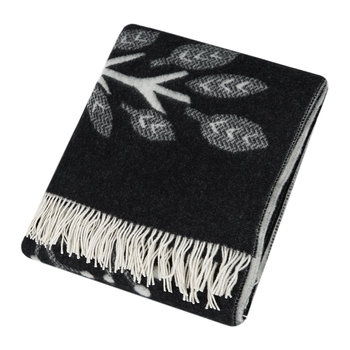 Forest Floor Throw - Black/White