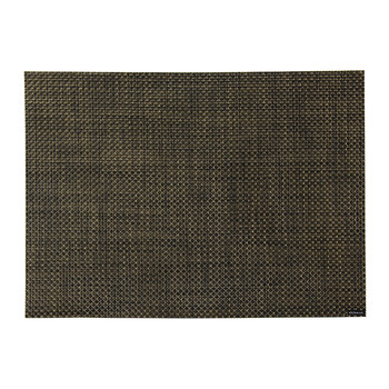 Basketweave Rectangle Placemat - Black/Gold