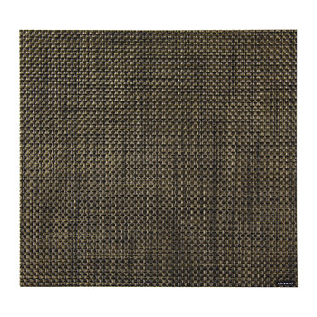 Basketweave Square Placemat - Black/Gold