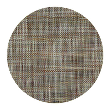 Basketweave Round Placemat - Willow