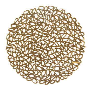 Pressed Pebble Round Placemat - Brass