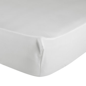 Triomphe Sateen Fitted Sheet - Silver