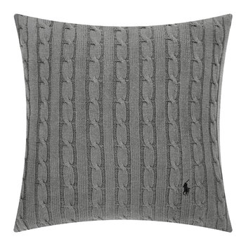 Cable Cushion Cover - 45x45cm - Charcoal