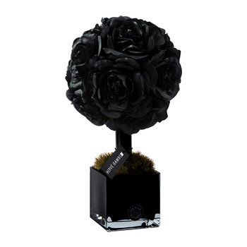 Black Roses Small Topiary