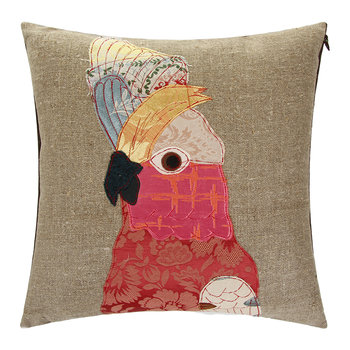 Carmen Cockatoo Pillow - 50x50cm - Pink