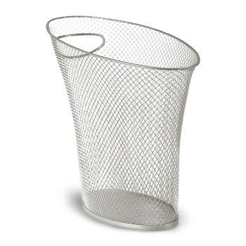 Skinny Mesh Waste Bin - Nickel