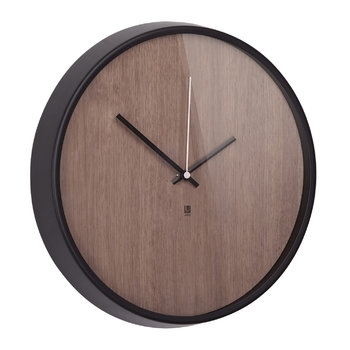 Madera Wall Clock - Walnut/Black