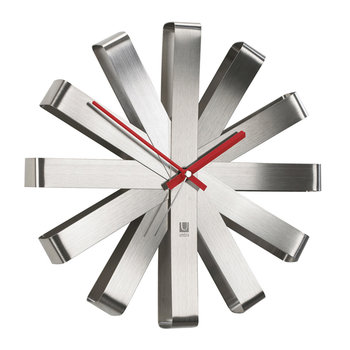 Ribbon Clock - Steel