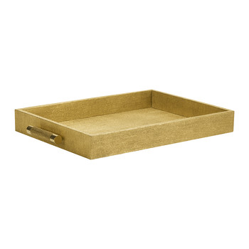 Rectangular Shagreen Tray - Gold Linen