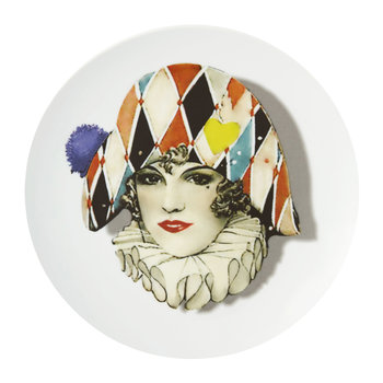 Love Who You Want - Assiette « Miss Arlequin »