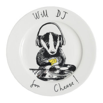 'Will DJ for cheese' Side Plate