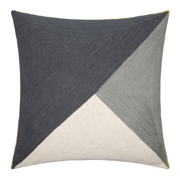 Albers Cushion - 50x50cm - Slate & Pewter