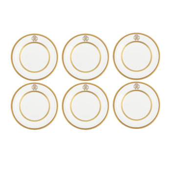 Assiettes à Pain / Beurre Silk Gold - Lot de 6