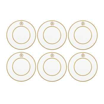 Silk Gold Dinner Plates - Set of 6