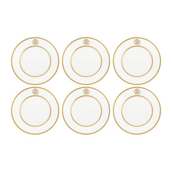 Silk Gold Soup Plates - Set of 6