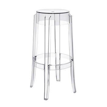 Charles Ghost Stool 75cm - Crystal