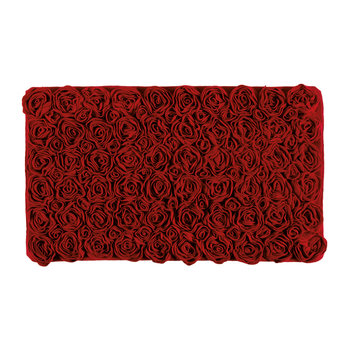 Rose Bath Mat - Red - 60x100cm