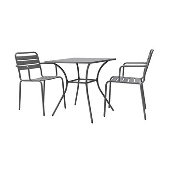 Dean Street Set of 2 Chairs & Table - Charcoal