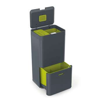 Intelligent Waste Totem - Graphite - 60 Litres