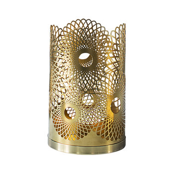 Feather Candle Holder - Brass