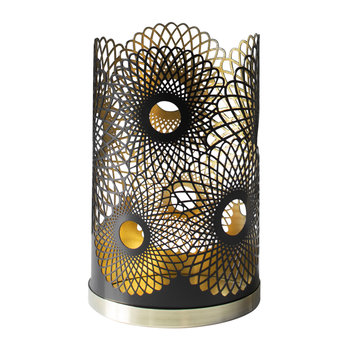 Feather Candle Holder - Black
