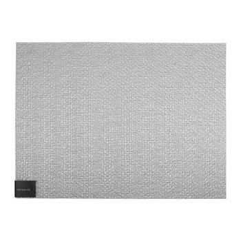Glassweave Rectangle Placemat - Silver