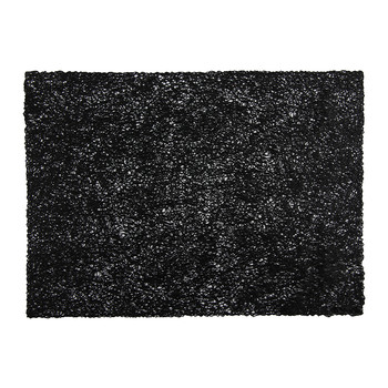 Pressed Scribble Rectangle Placemat - Black