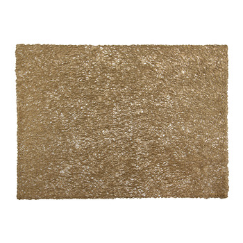 Pressed Scribble Rectangle Placemat - Brass