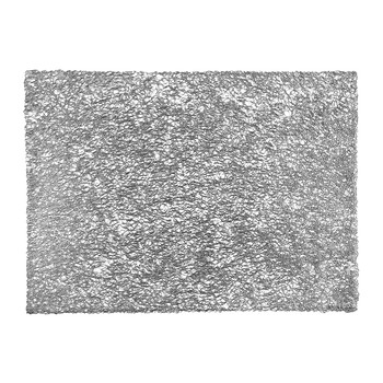 Pressed Scribble Rectangle Placemat - Silver