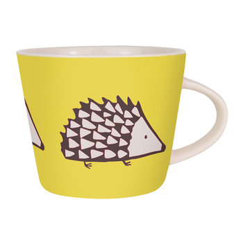 Spike Mug - Charcoal and Yellow