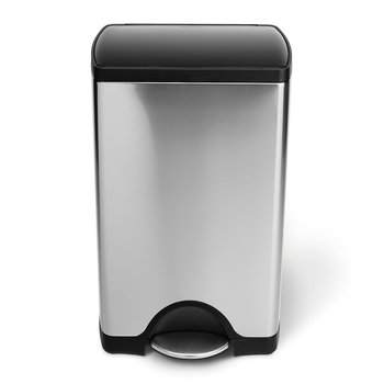 Rectangular Brushed Steel Bin - 38L