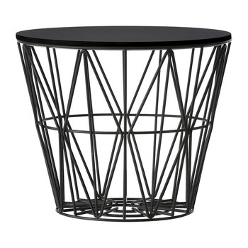 Medium Wire Basket - Black with Lid