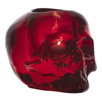 Still Life Skull Votive - Red