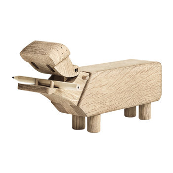 Hippo Wooden Figurine - Oak
