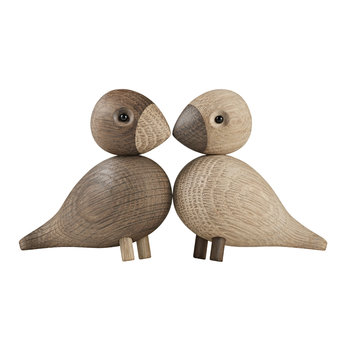 Lovebirds  - 2er-Set - Natur-/Rauch-Eiche