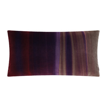 Amazilia Velvet Pillow - 35x60cm - Stone / Loganberry