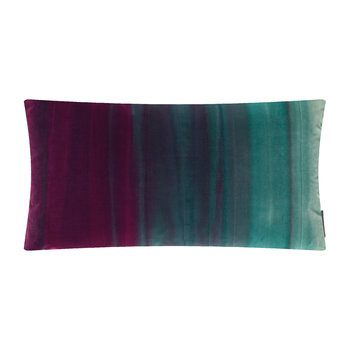 Amazilia Velvet Pillow - 35x60cm - Lagoon / Raspberry