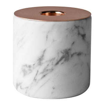 CHUNK of Marble with Copper - Candle Holder