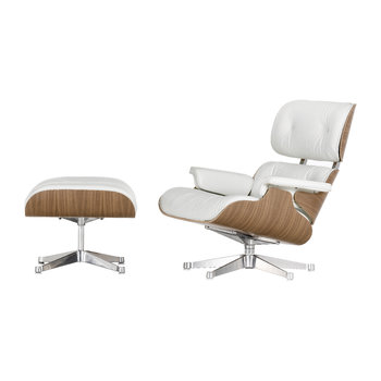 LCH Eames Lounge Chair & Ottoman - Snow