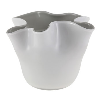 Lia Tealight Holder - White/Gray