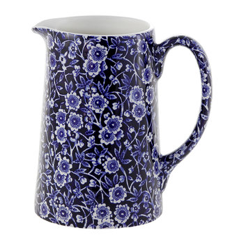 Blue Calico Tankard Pitcher