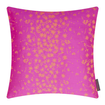 Star Anise Cushion - 45x45cm - Neon/Fluoro-Orange
