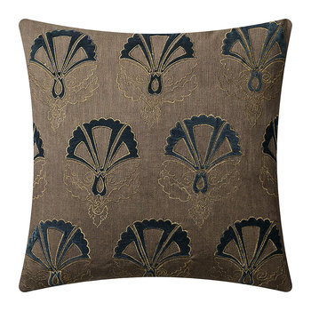 Cushion Cover - 50x50cm - Lush Applique - Sahara Blue