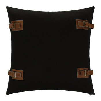"Luxe Lodge Cushion Cover 20"" - Black"