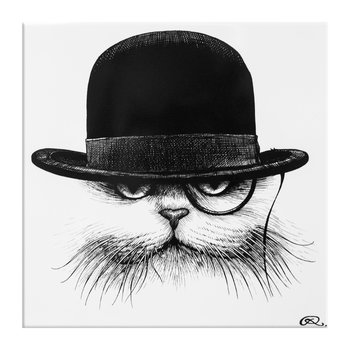 Carreau Personnage - Cat Hat Down