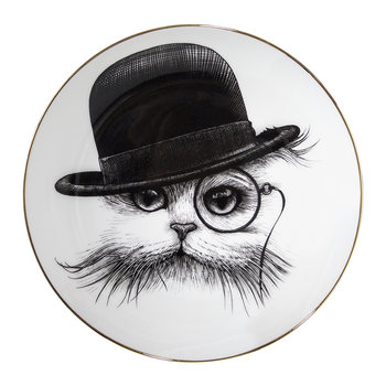 Perfect Plates - Cat in Tilted Hat