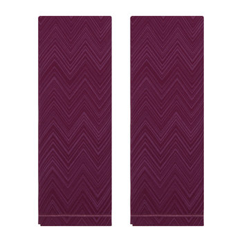 Serviettes de Table - Lot de Deux - Aubergine